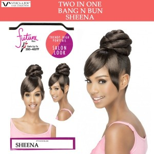 Vivica A Fox Synthetic Heat Resistant Bang N Bun Draw String Sheena