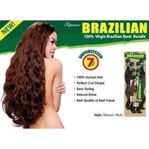 bijoux beauty element soprano unprocessed  brazilian virgin remy human hair weave natural wavy  6pcs + free closure