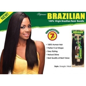 bijoux beauty element soprano unprocessed  brazilian virgin remy human hair weave straight 6pcs + free closure