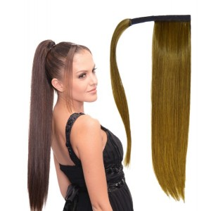 """Ebo Synthetic Heat Resistant Wrap Around Ponytail Hair Extension Straight 20"""""""