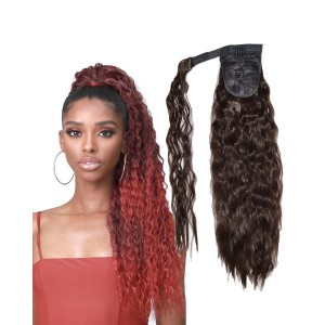 """Ebo Synthetic Heat Resistant Wrap Around Ponytail Hair Extension Super Wave 20"""""""