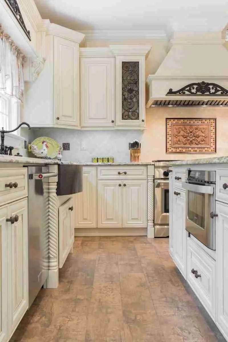 J&K Cabinetry Cream Glazed Kitchen All Cabinet