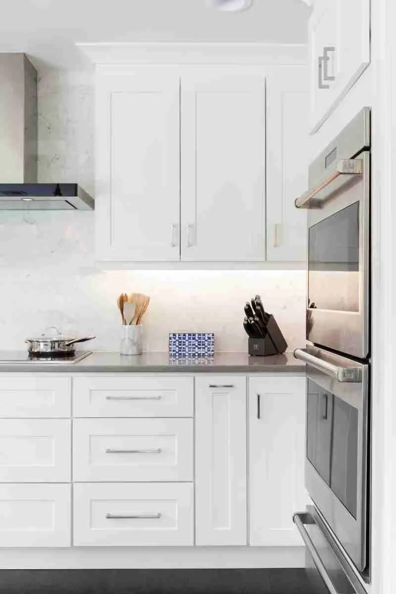 J&K Cabinetry White Kitchen with Countertop