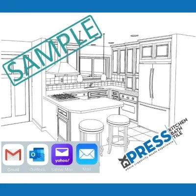 get a 3d design for new kitchen cabinets