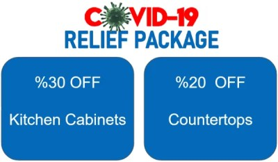 covid relief package kitchen cabinets