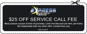 express electric discount, express promo code, electrician discount raleigh, discount electrician raleigh