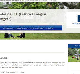 curso de frances nivel B1 Mooc Paroles de FLE