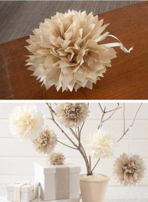 DIY Tissue Paper Pom Poms   10 Last Minute DIY Christmas Decorations   Expressing Life