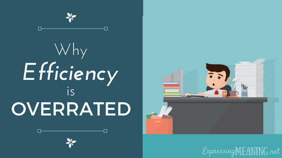 Why Efficiency is Overrated