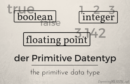 Der Primitive Datentyp - the primitive data type