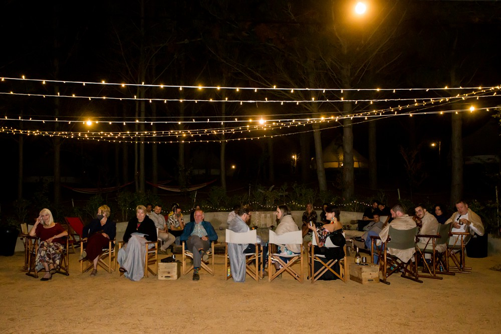 Cherry Glamping wedding fire pit