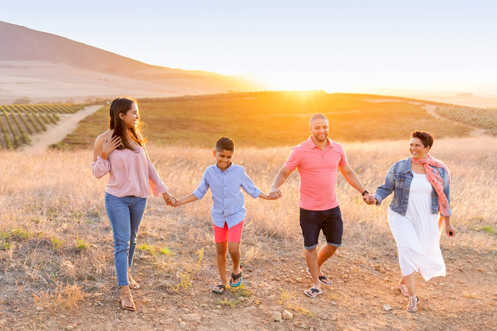 Loch Lynne family photo shoot golden hour on the hills