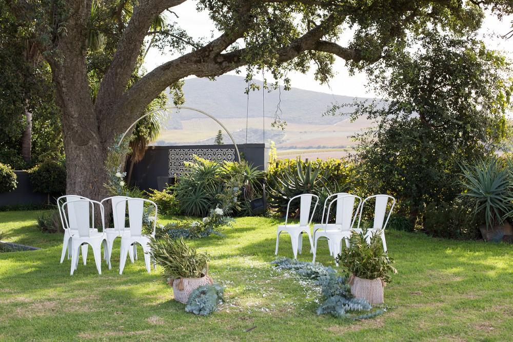 Intimate Wedding Fransmanshuijs ceremony area