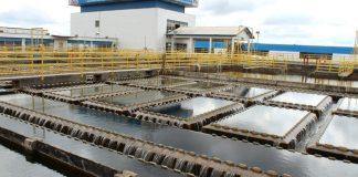 Foto da estação de tratamento de água de Lages.