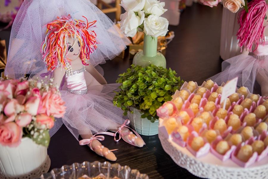 expressogourmet festa bailarina detalhe boneca doces Festa Infantil com Tema Bailarina