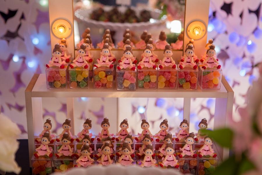 expressogourmet festa bailarina lembrancinha jujuba Festa Infantil com Tema Bailarina