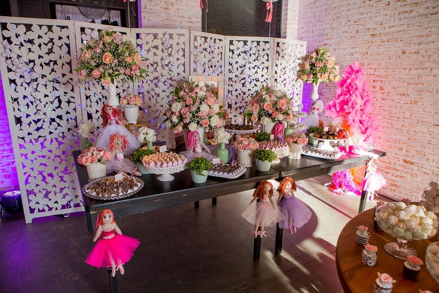 expressogourmet festa bailarina mesa de doces Festa Infantil com Tema Bailarina