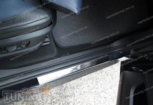 Накладки на пороги БМВ Х5 Е70 (защитные пороги BMW X5 E70 ...