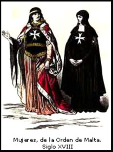 Mujeres en la Orden de Malta s XVIII