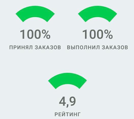 Показатели водителя в зелёной зоне - субсидии будут