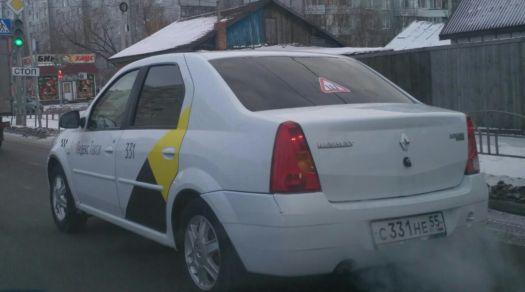 Renault Logan 2008, белый, С331НЕ55