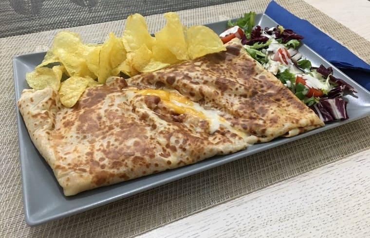 Crepê de jamón y queso - Café Bar Crepês