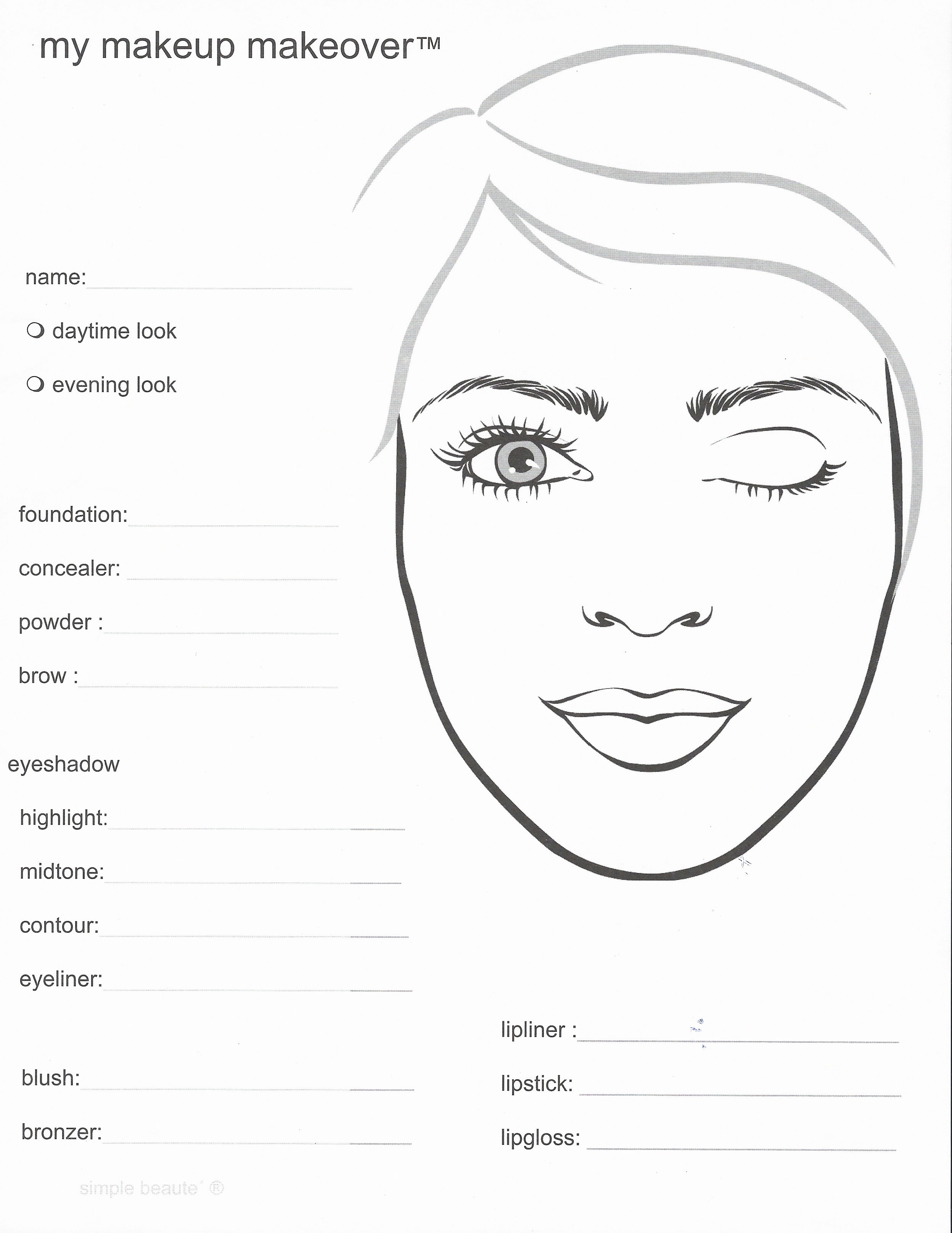 Vanessa S Younique Online Bridal Shower Makeover Template Points For Giveaway