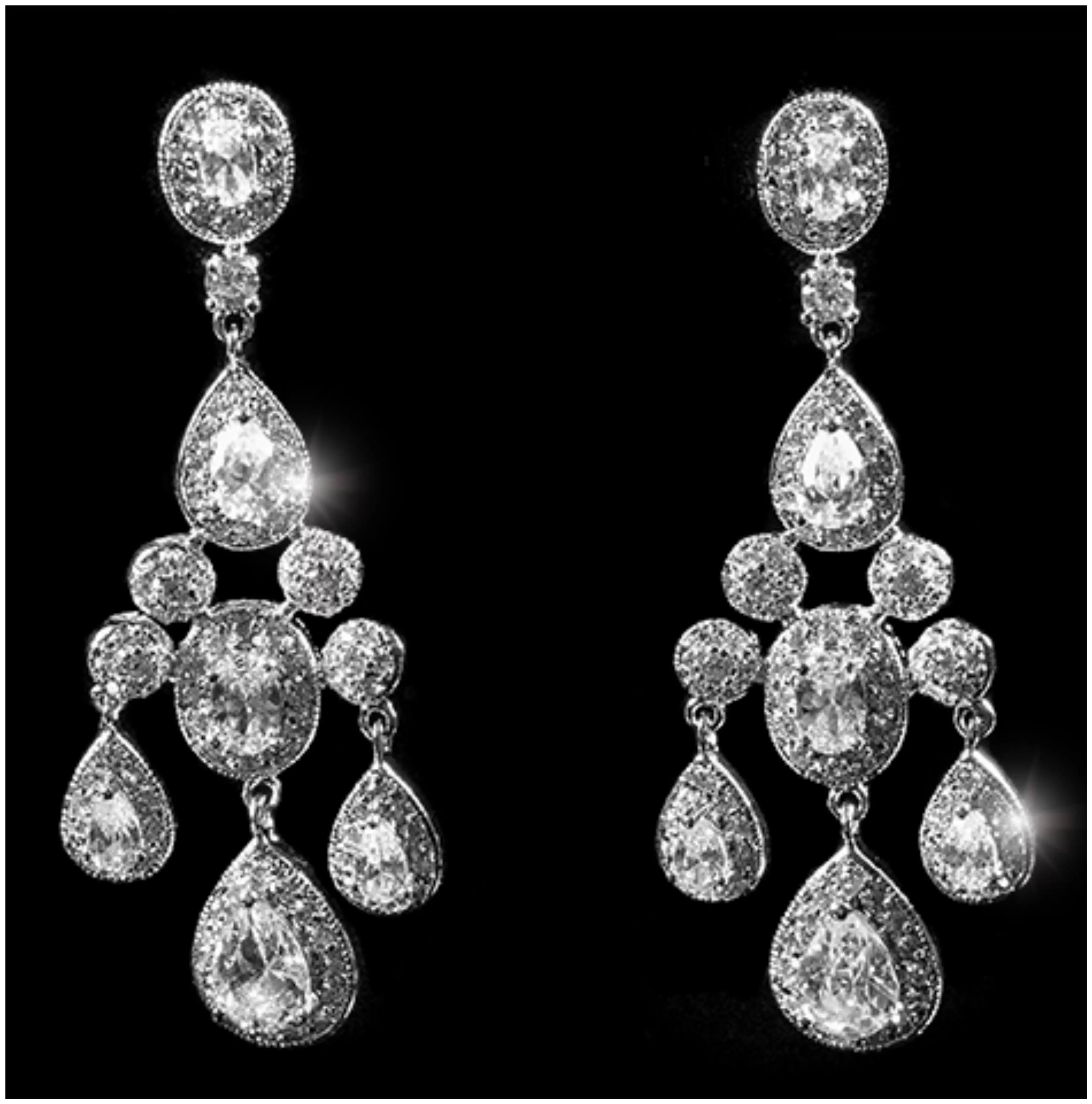 Fashion chandelier earrings exquisite magazine arubaitofo Images