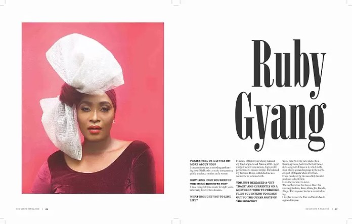 Queen of Chocolate City, Ruby Gyang is EM's cover diva. 1