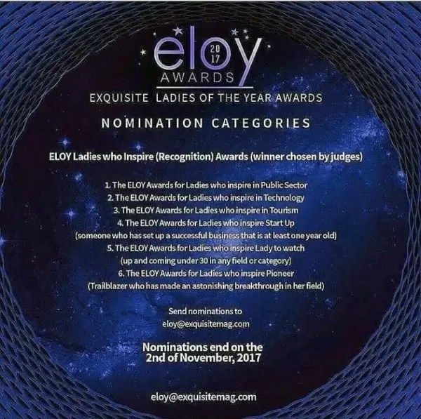 ELOY nominations still on... 1