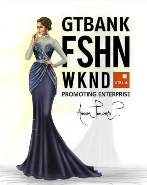 Fashion illustrator, Celafrique is one of the fashion illustrators at gtbankfashion weekend 1