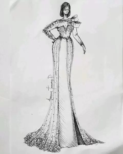 Fashion illustrator, Celafrique is one of the fashion illustrators at gtbankfashion weekend 6