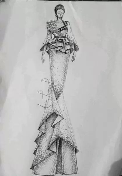Fashion illustrator, Celafrique is one of the fashion illustrators at gtbankfashion weekend 7