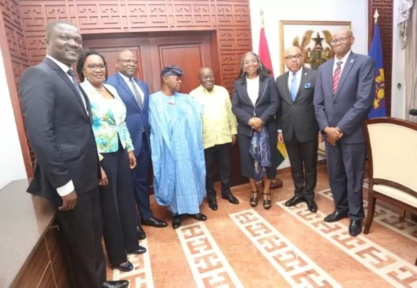 FBNHOLDINGS, FBNBANK Ghana Call On PREZ AKUFO-ADDO 1