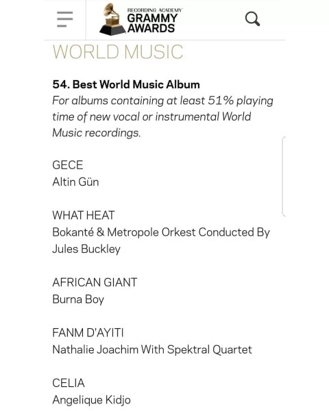 Entertainment News: Burna Boy Bags Grammy Nomination 1