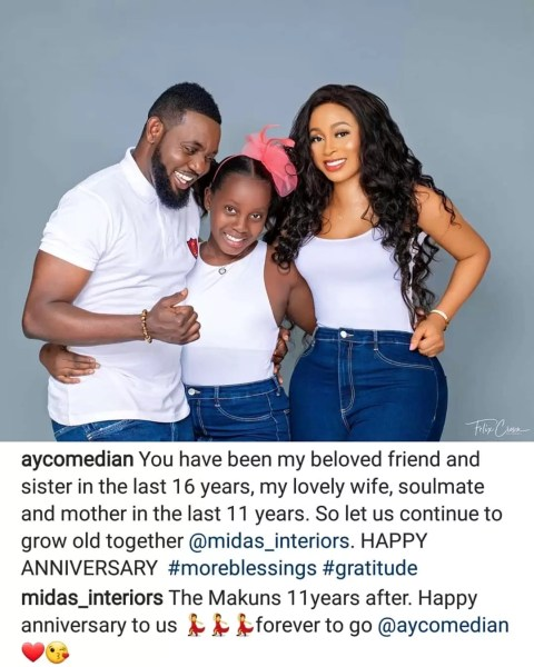 Entertainment News: AY And His Wife Celebrate 11 Years Anniversary, Davido's Cousin BRed Welcomes 1st Son And More 1