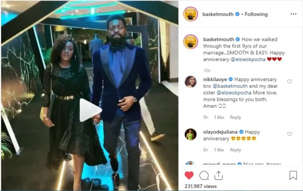 Entertainment News: Ex BBNaija Housemate Cee-C Turns 27, Basket Mouth & Elsie Okopocha Celebrate 9 years Wedding Anniversary, and More 2