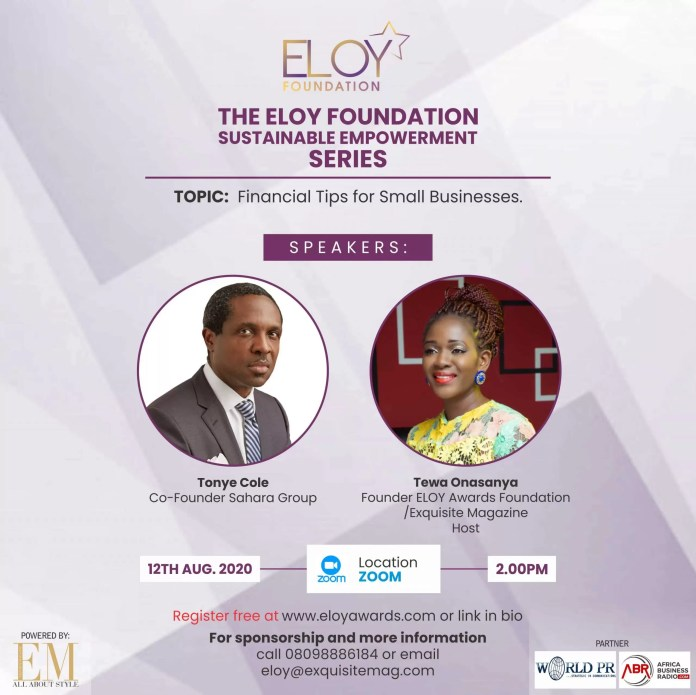 Eloy Awards Foundation 2020 Webinar Series: Day Three -Mental Awareness To Sustain You As A Business Owner Or Entrepreneur 4