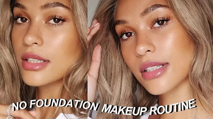 No foundation makeup