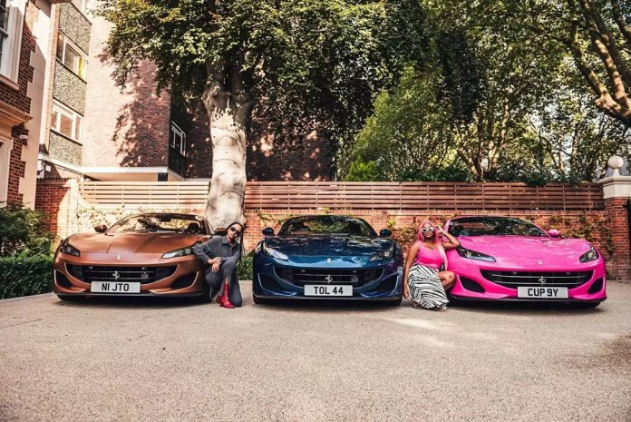 Father Of The Year Alert! Femi Otedola Gifts Ferraris To His Three Daughters, And Cuppy Got A Pink One 7