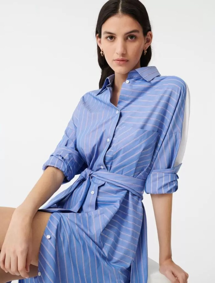 Ladies, It's Time To Get Your Blue Game On With These Awesome Blue Shirt Outfit Ideas 15