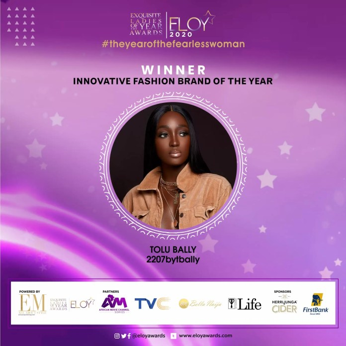 Tolu Bally, Toke Makinwa and More Emerge As The ELOY Awards 2020 Winners 5
