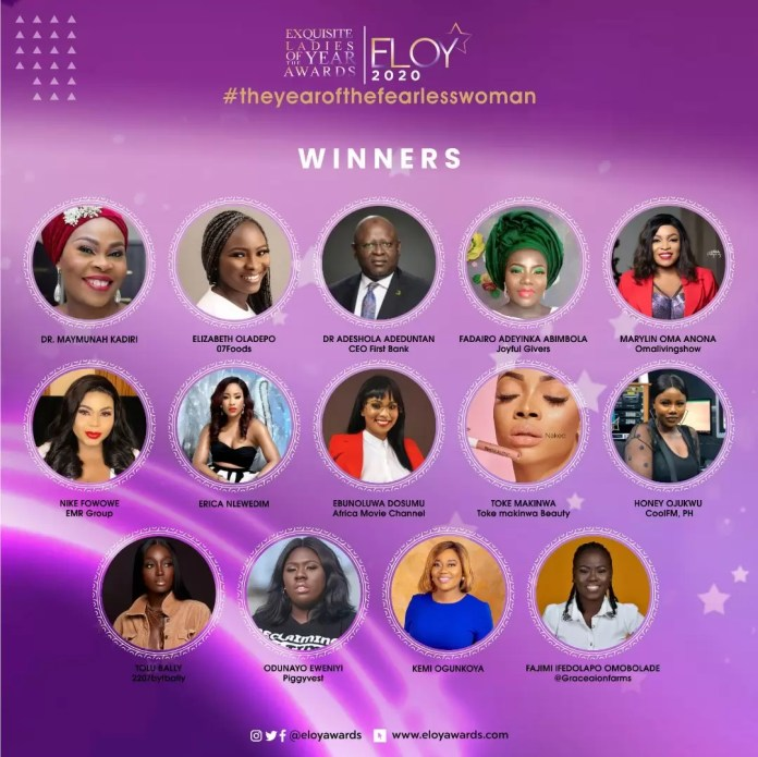 Tolu Bally, Toke Makinwa and More Emerge As The ELOY Awards 2020 Winners 1
