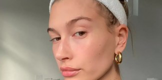 Hailey Bieber's acne patches