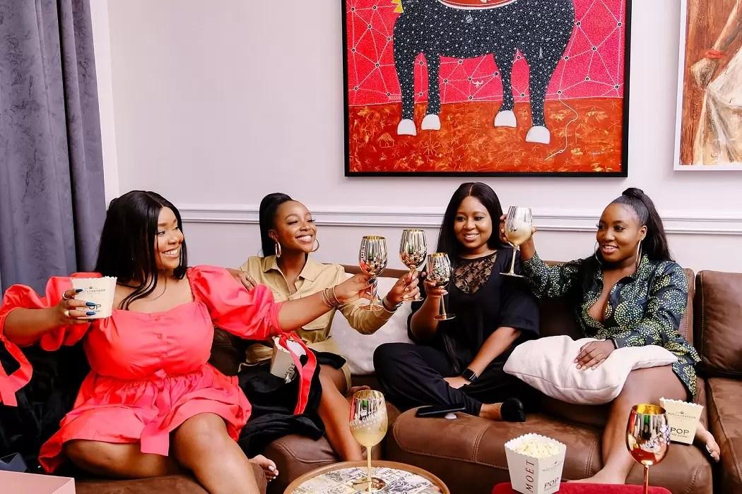 Ini Dima Okojie Hosts Namaste Wahala Home Party With Friends
