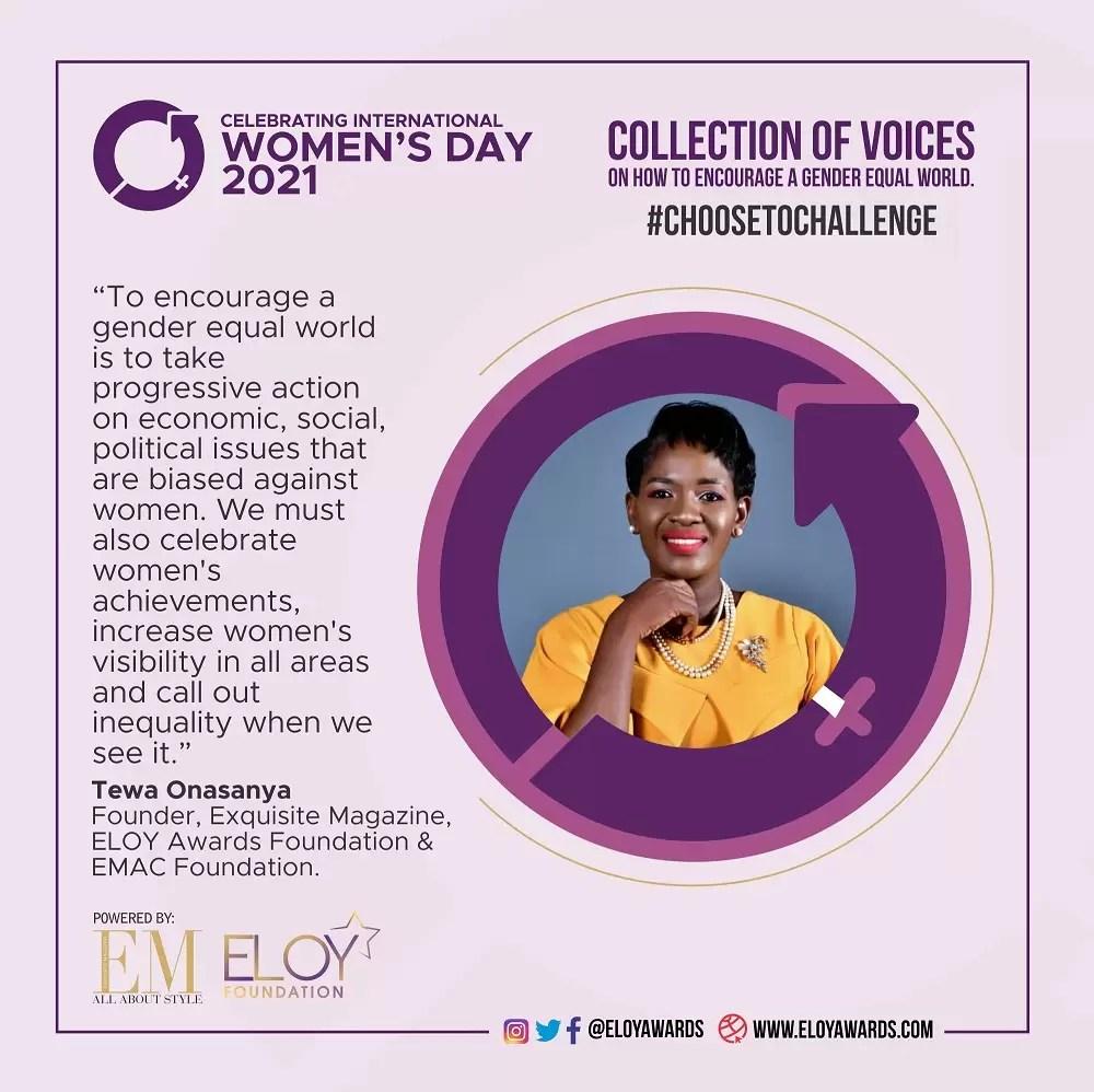 How Exquisite Ladies Are Celebrating International Women's Day 2021 - Tewa Onasanya