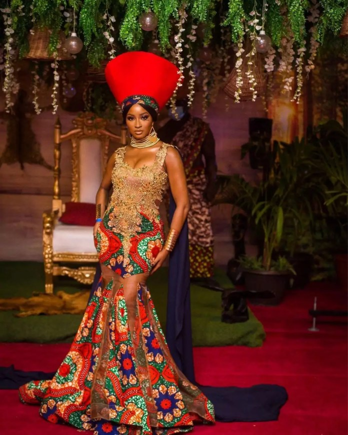 """Our Favorite Nigerian Celebrites """"African Royalty"""" Outfit To 'Coming 2 America 2' Premiere/ Kim Oprah"""