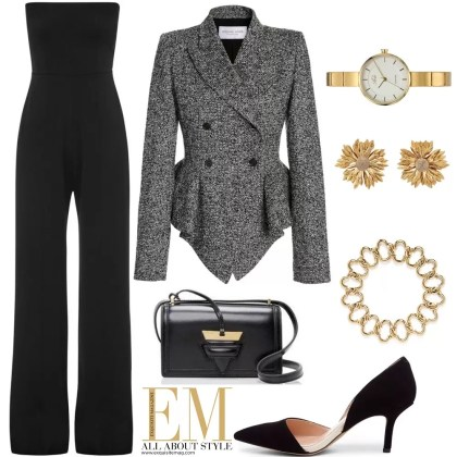 A Full Week Of Stylish Black Outfits Look! 5