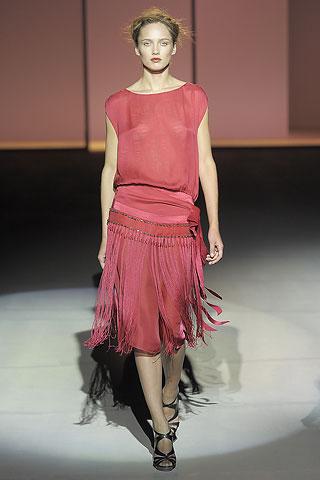 Alberta Ferretti Fringed Dress on Exshoesme.com