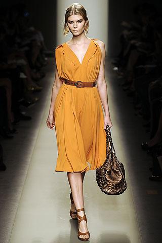 Bottega Veneta Curry Yellow Dress on Exshoesme.com